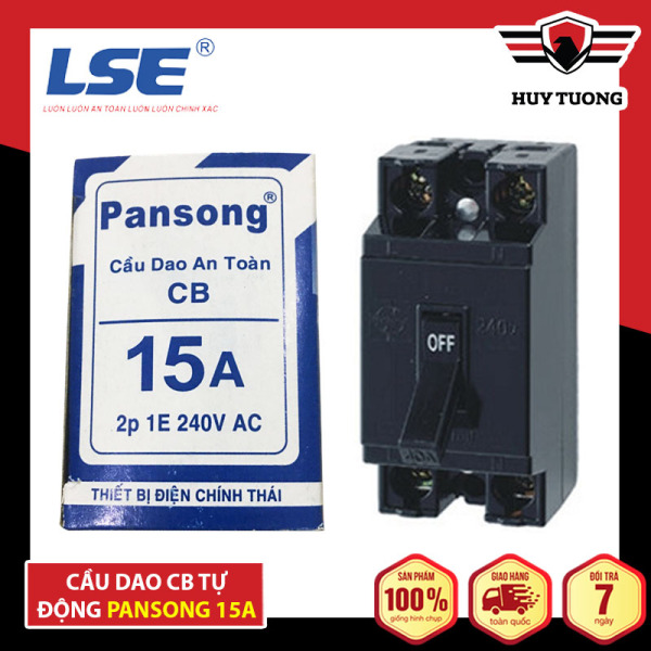Bảng giá Cầu dao an toàn ( CB tự động ) Pansong bảo hành 36 tháng cao cấp - Huy Tưởng