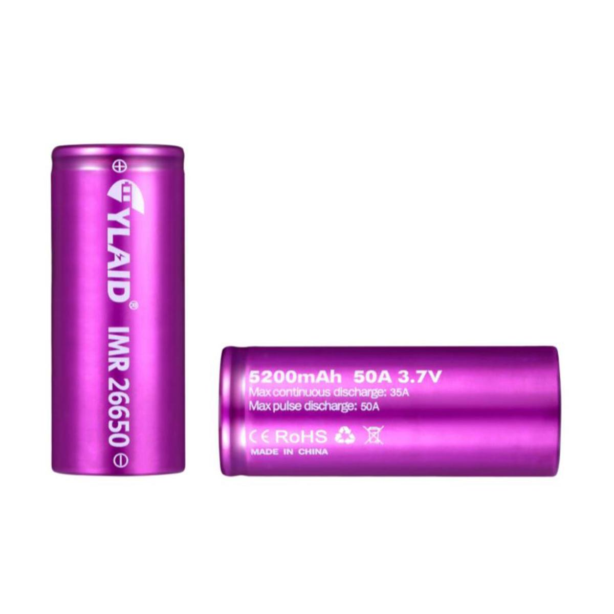 Pin sạc Cylaid 26650 5200mAh 50A for Mech and Boxes mods