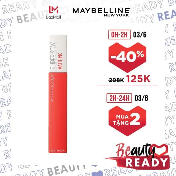 Son Kem Lì 16h Lâu Trôi Maybelline New York Super Stay Matte Ink Lipstick 5ml giá rẻ