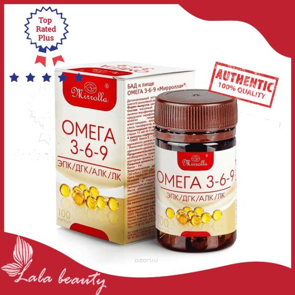 Viên Uống Omega 3 6 9 Mirrolla 100 Viên Cải Thiện Trí Thông Minh Của Trẻ, Cho Tim Mắt Não Khỏe Mạnh. cao cấp