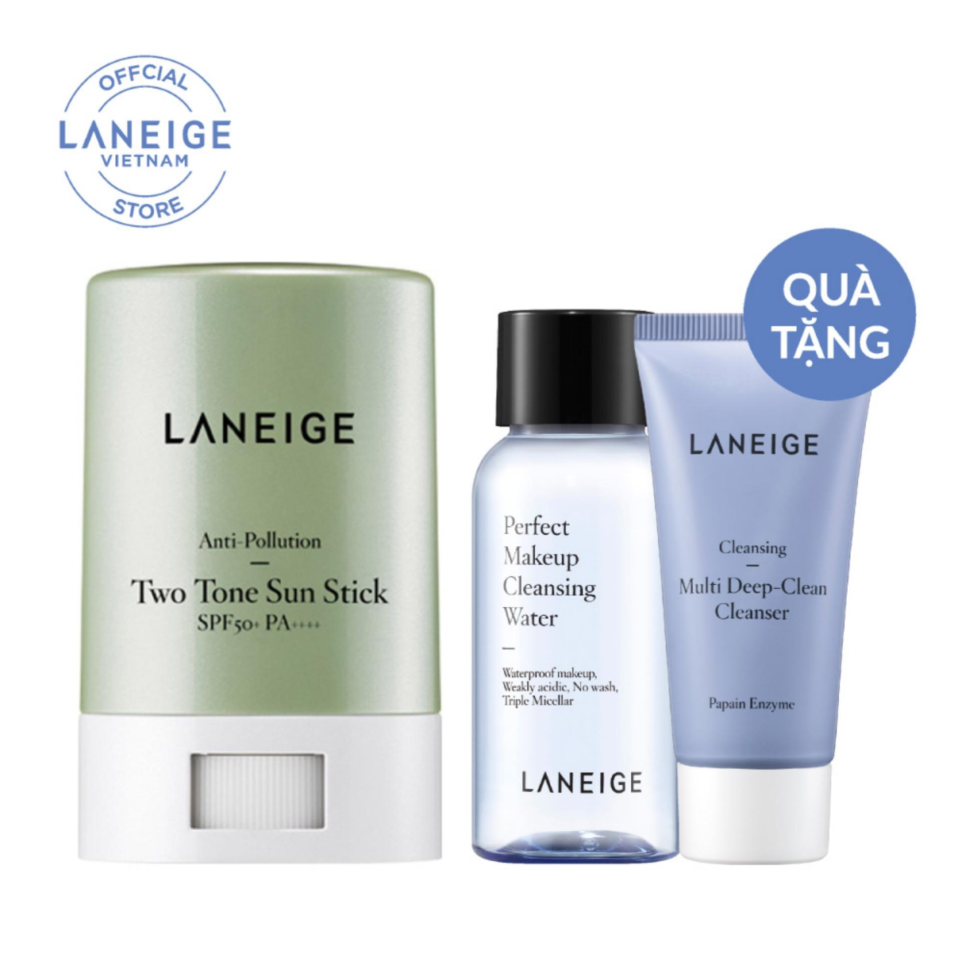Chống nắng dạng sáp hai màu Laneige Anti-Pollution Two Tone Sun Stick SPF50+ PA++++ 18g tốt nhất