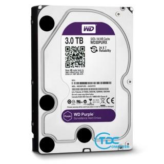 Ổ cứng HDD Western Purple 3TB 3.5 inch, 5400RPM, SATA3, 64MB Cache ổ cứng 2TB, 3TB WD tím chuyên dụng camera, máy tính để bàn. Bảo hành 2 năm thumbnail