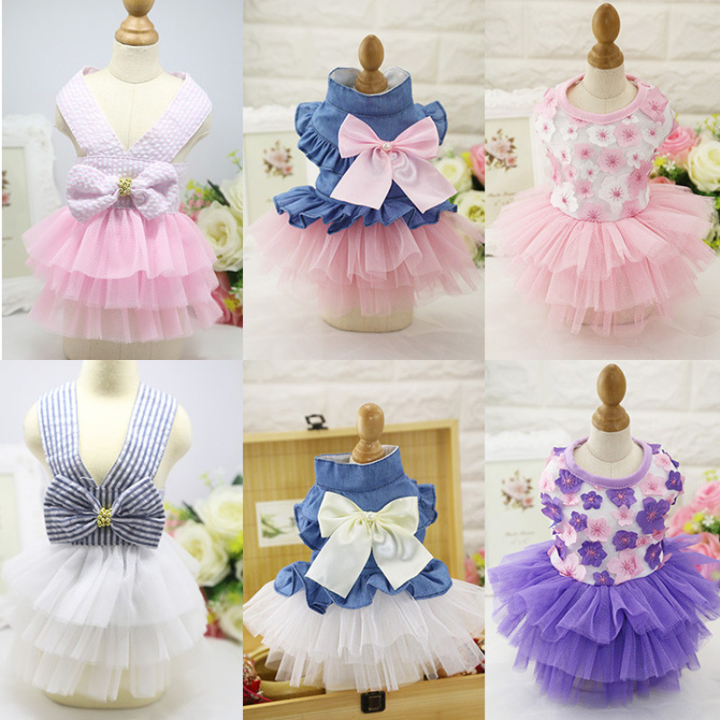 Váy, đầm dành cho chó mèo, đủ size, mẫu mã đa dạng AT10-14 (Inbox để chọn size và mẫu, nhiều mẫu shop không đăng hết được)
