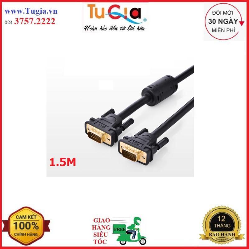 Bảng giá Dây cáp kết nối VGA HDB 15 đực sang HDB 15 đực dài 1.5M UGREEN VG101 11630 - Hàng chính hãng Phong Vũ