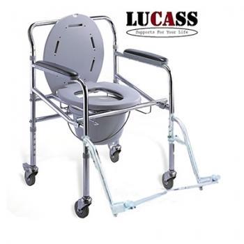 Ghế bô vệ sinh có bánh xe, để chân Lucass GX300 nhập khẩu