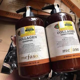 Cặp dầu Gội -Xả Collagen Mefaso ( 2chai x 850ml) siêu mềm mượt thumbnail