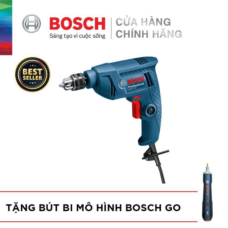 Máy khoan Bosch GBM 320 - Tặng Bút bi mô hình Bosch Go
