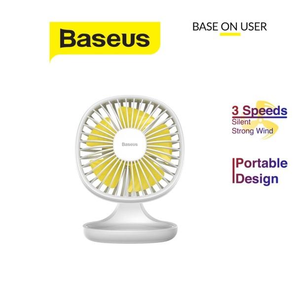 Quạt mini để bàn Baseus Pudding-Shaped Fan chất liệu nhựa ABS cao cấp điều chỉnh 3 mức tốc độ gió vận hành êm ái