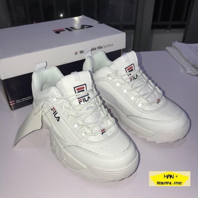 (VIDEO + QUÀ TẶNG) Giày thể thao FILA Disruptor 2 trắng thời trang năng động tăng chiều cao