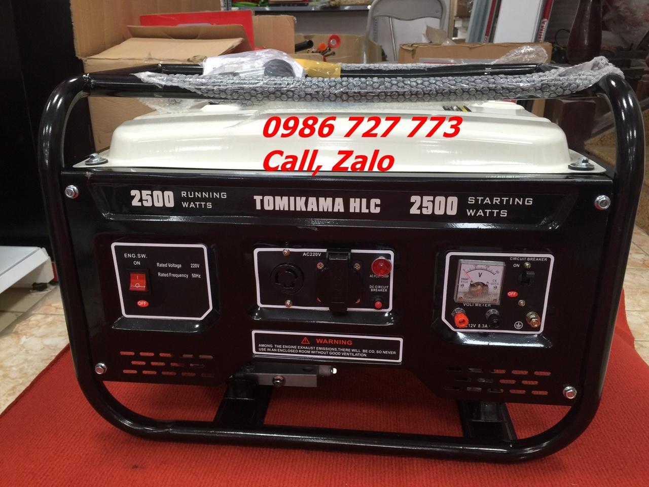 Máy phát điện chạy xăng 2kw giật nổ- Tomikama 2500 - HLC 2500