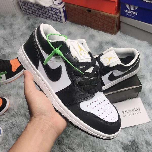 Giày Air Jordan Low thấp cổ đen trắng phối đồ đi học cực dễ