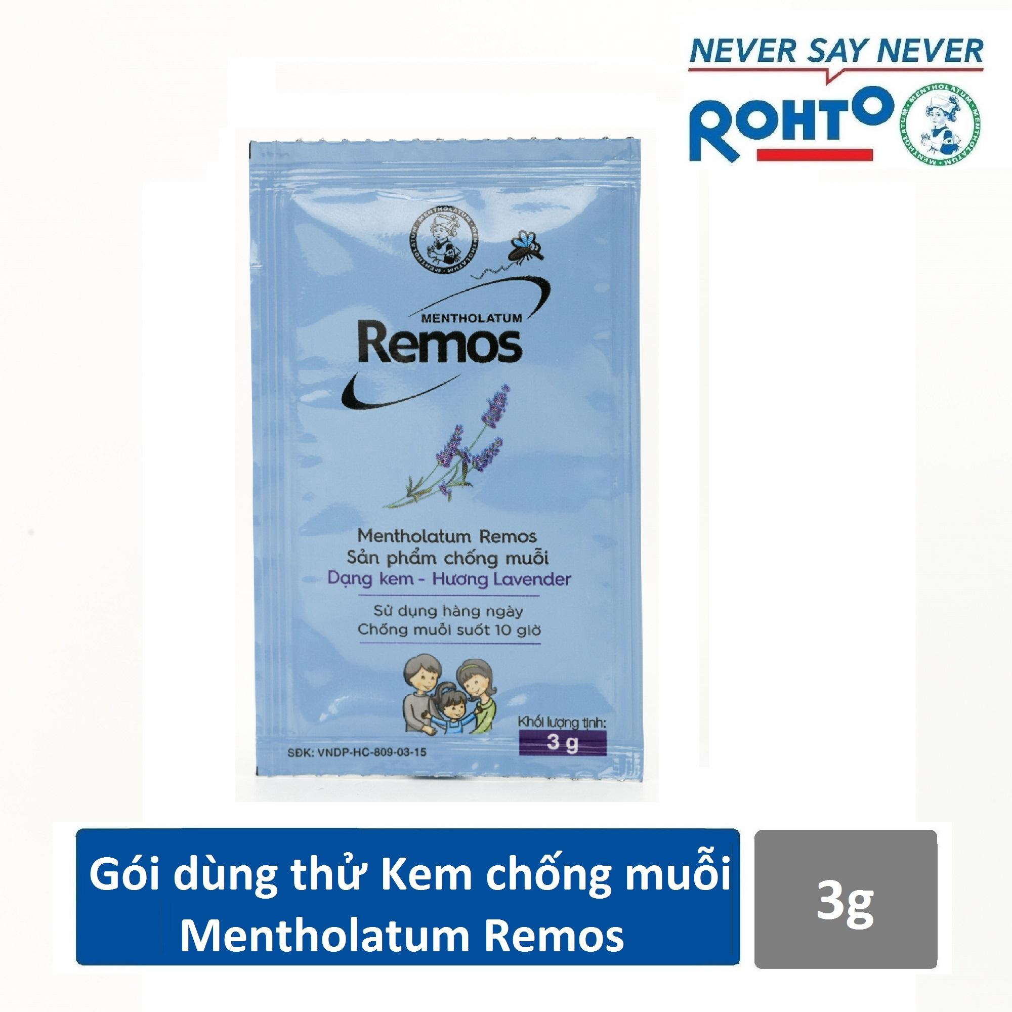 [Quà tặng] Gói dùng thử Kem chống muỗi Mentholatum Remos 3g nhập khẩu