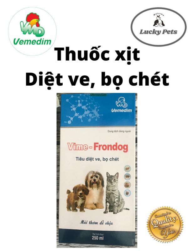 Vime Frondog - Xịt ve rận bọ chét chó mèo