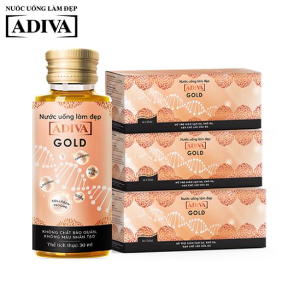 Combo 3 Nước uống làm đẹp Collagen Adiva Gold dạng nước 14 lọ x 30ml giá rẻ