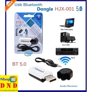 USB bluetooth Dongle HJX-001 thế hệ mới lên đời 5.0 chính hãng, dùng cho các thiết bị âm thanh không có bluetooth, hư hỏng bluetooth. thumbnail