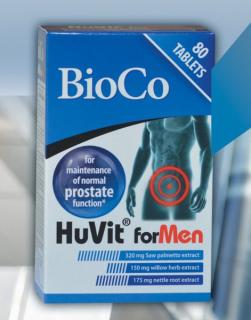 [ NHẬP KHẨU HUNGARY] Hộp 80 viên Bioco Huvit for Men hỗ trợ hạn chế tiến triển u xơ lành tính tuyến tiền liệt và tăng cường chức năng của hệ tiết niệu cho nam giới trên 45 tuổi, giúp giảm tiểu đêm do u xơ tiền liệt tuyến thumbnail