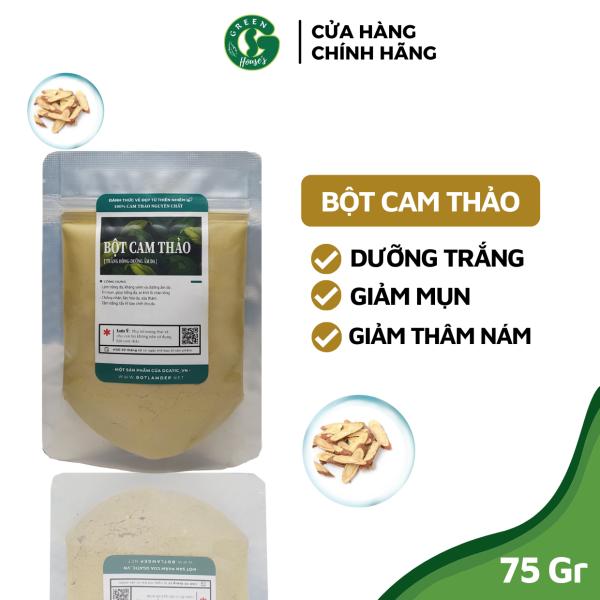 [HCM]Bột Cam Thảo Handmade - Trắng Da Giảm Mụn Organic 75Gr - B2.004 nhập khẩu
