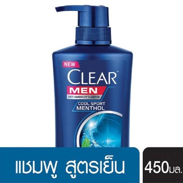 chai Dầu Gội Clear men Nhập Khẩu Thailand -450ml/chai dưỡng mềm mượt 2 trong 1 dành cho tóc khô nhập khẩu