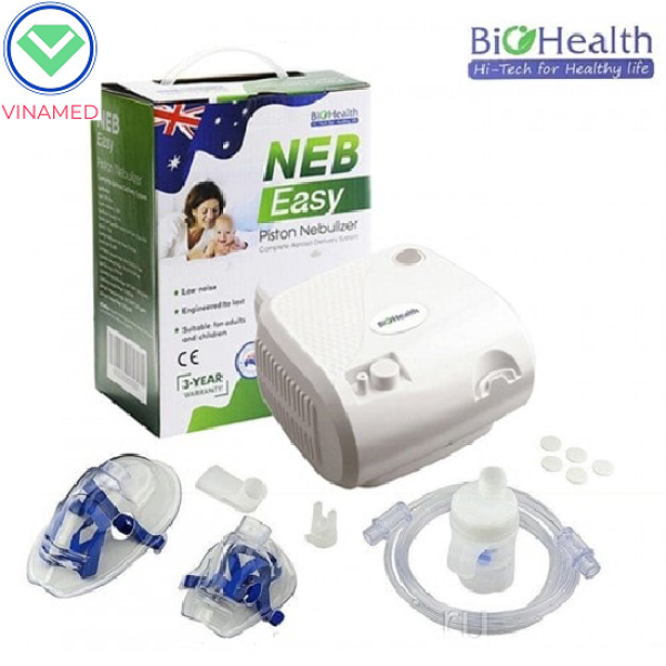 Máy xông mũi họng BioHealth NEB EASY hỗ trợ các bệnh hô hấp