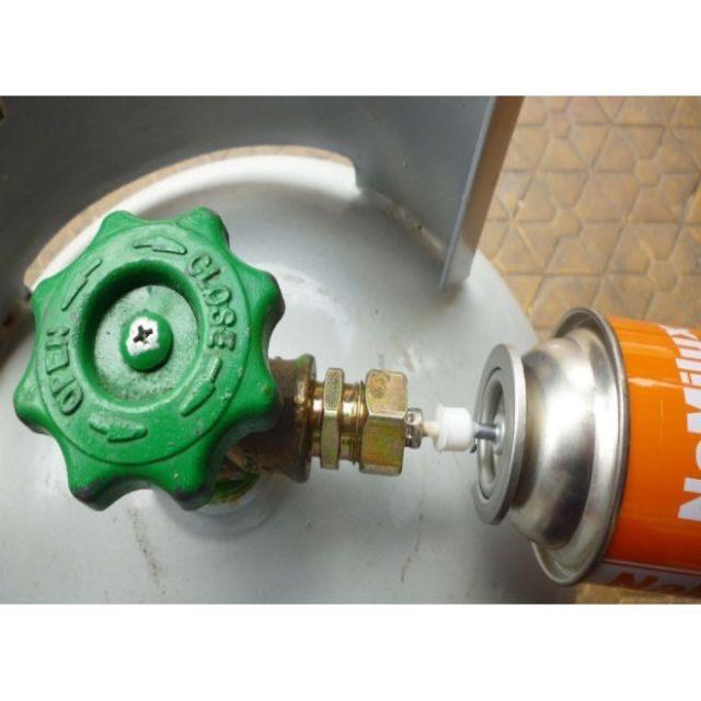 Van Sạc Gas Bình Mini -Cục Sạc Chai Gas Du Lịch - tặng kèm nút nhựa và giấy hướng dẫn sử dụng