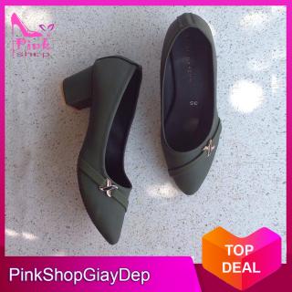 (Có mã miễn ship) Giày nữ, giày cao gót nữ đế vuông 5 phân GR PinkShopGiayDep thumbnail