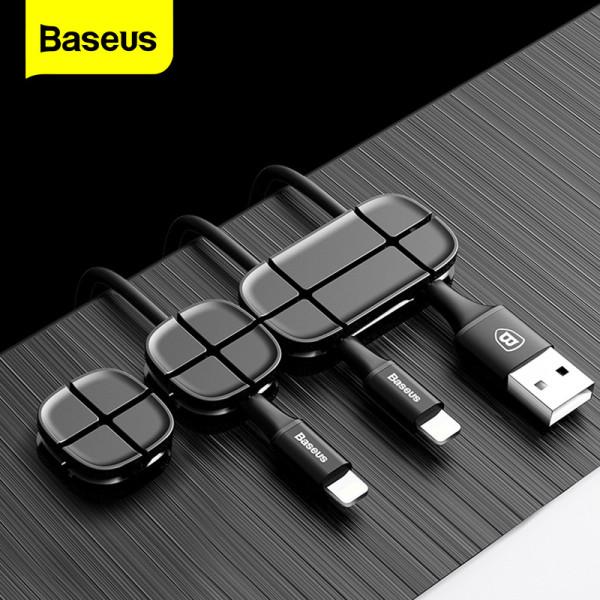Bảng giá Baseus cuộn dây cáp silicon linh hoạt Bộ tổ chức cáp USB Quản lý dây cáp Giá đỡ kẹp cho chuột Tai nghe Tai nghe Phong Vũ