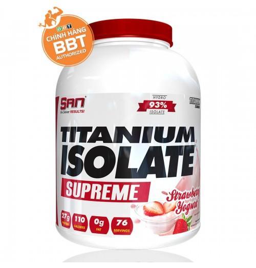 Tăng cơ giảm mỡ S.A.N Titanium Whey Isolate Supreme + tặng bình lắc
