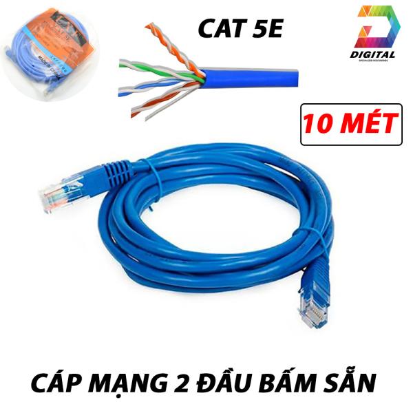 Giá Cáp Mạng 2 Đầu Bấm Sẵn Tốc Độ CAT 5E LXF Dài 10M