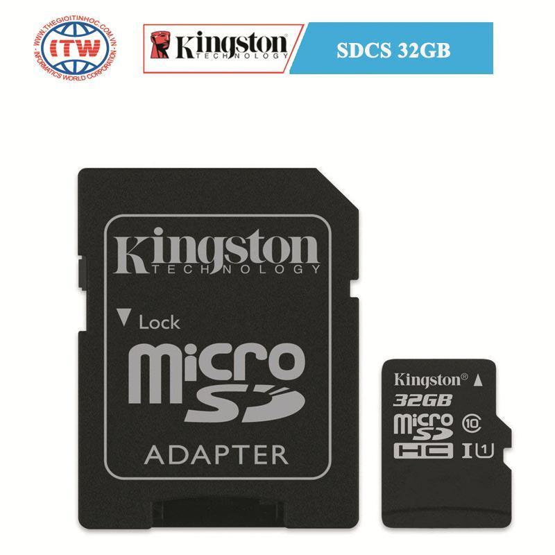 Thẻ nhớ Kingston SDCS 32GB - Hãng Phân Phối Chính Thức