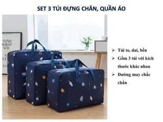 set 3 túi đựng chăn, màn, quần áo (túi to, bền, đẹp) thumbnail
