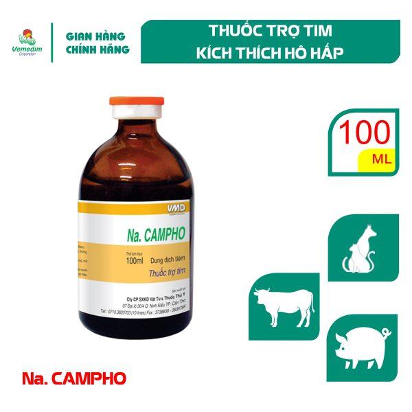 Vemedim Na Camphor - Trợ tim cho chó và gia súc, chai 100ml