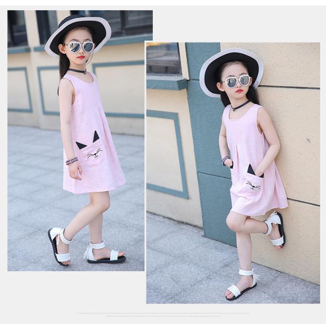 [Váy đẹp, giá rẻ, may tại xưởng] Váy đầm túi chuột dáng chữ A cho bé gái, váy đầm bé gái, váy bé gái năng động