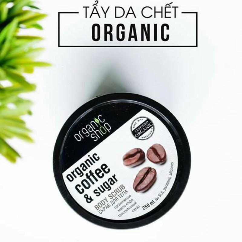 Tẩy Da Chết Organic Shop - Organic Coffee & Sugar Body Scrub