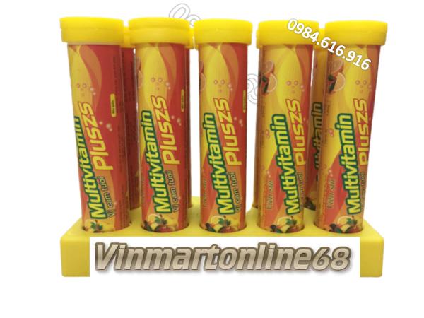 [Combo 10 Tuýp] Viên Sủi Vitamin C Multivitamin Pluszs - Bổ Sung Vitamin C - Tăng Cường Miễn Dịch Chống Covit, Tăng Sức Bền Thành Mạch Máu - Mỗi Tuýp 20 viên