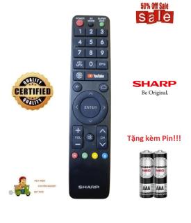 Remote Điều khiển tivi Sharp Smart TV- Hàng loại tốt mới 100% Tặng kèm Pin thumbnail