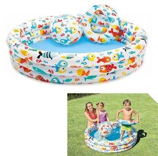Bể bơi mini bao gồm cả bóng và phao bơi cho bé - bể Bơi Phao 3 Chi TIết Kèm Bóng Và Phao Bơi Cho Bé - Bể phao cầu vòng kèm bóng và phao - đồ dùng sinh hoạt cho bé - đồ chơi vận động cho bé - hồ phao cao cấp - đồ chơi cho bé ngày hè 8