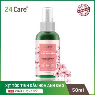 Xịt tóc Tinh Dầu hương Hoa Anh Đào 50ml - thơm tóc, hạn chế bạc tóc, nuôi dưỡng mái tóc chắc khỏe thumbnail