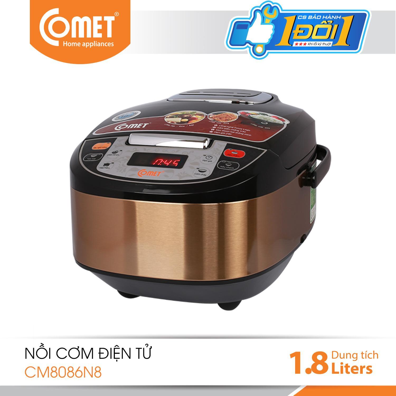Bảng giá Nồi Cơm Điện Tử Comet CM8089, Dung tích 1.8L, Công suất 700W, Công nghệ Fuzzy Logic - Bảo hành 12 tháng - Hàng chính hãng Điện máy Pico