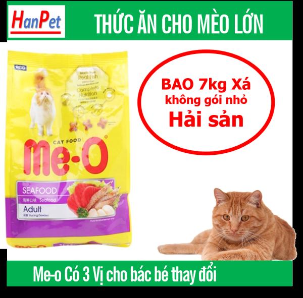 HCM -Me-o 7kg Thức ăn viên cho mèo lớn - CÁ NGỪ - CÁ THU - HẢI SẢN  dạng bao 7kg thức ăn  mèo trưởng thành (trên 1 năm tuổi)