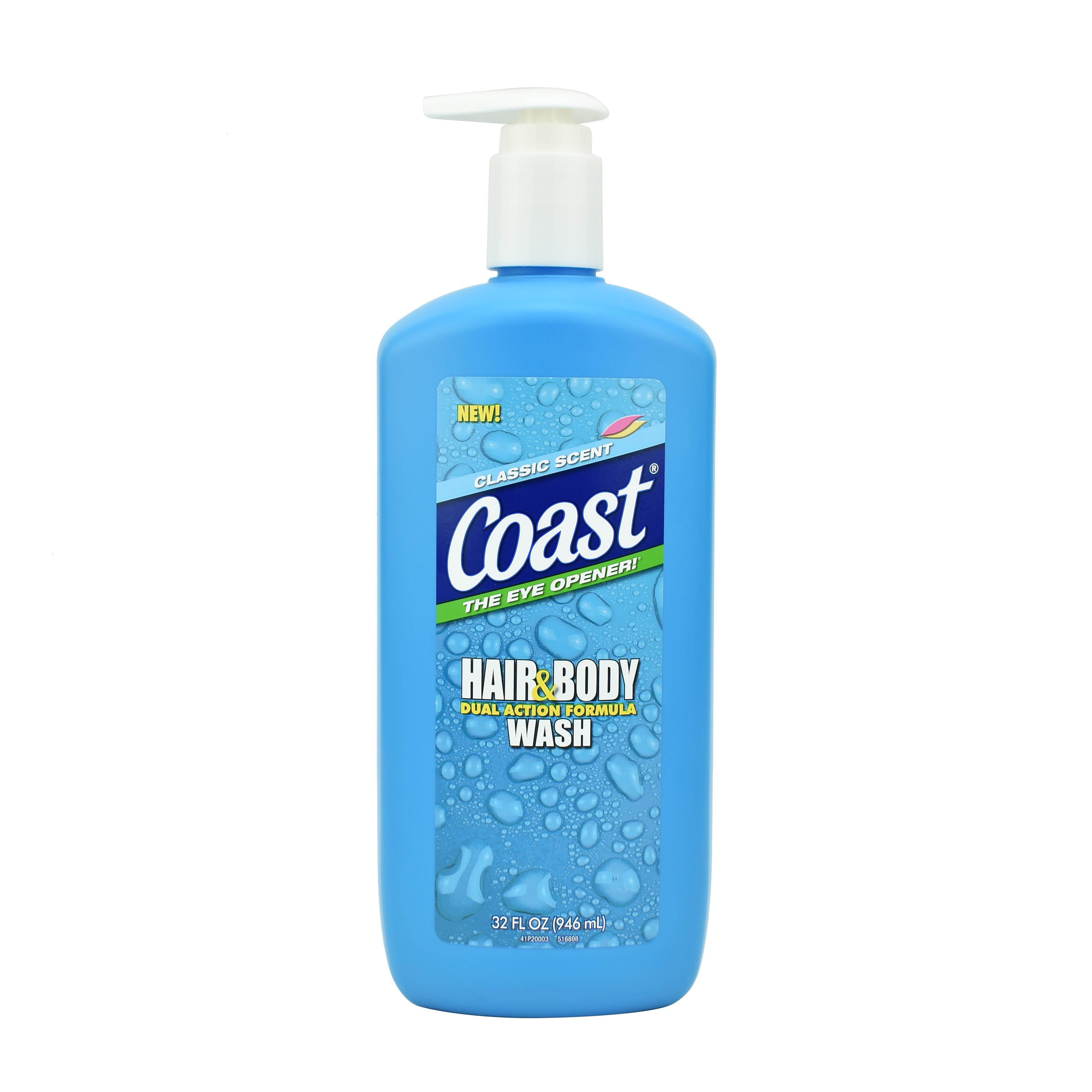 SỮA TẮM GỘI COAST HAIR AND BODY WASH MỸ -946ml nhập khẩu
