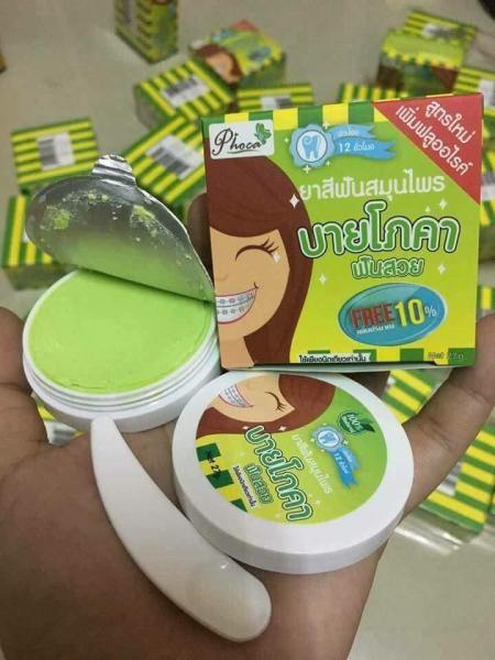 Kem đánh răng Phoca Thái Lan dành cho người niềng răng - Xanh lá mạ cao cấp