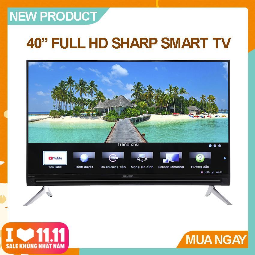 Bảng giá Smart Tivi Sharp 40 inch Full HD - Model LC-40SA5500X (Đen) Công nghệ X2 Master Engine, Âm thanh Bass Enhancer - Bảo Hành 2 Năm
