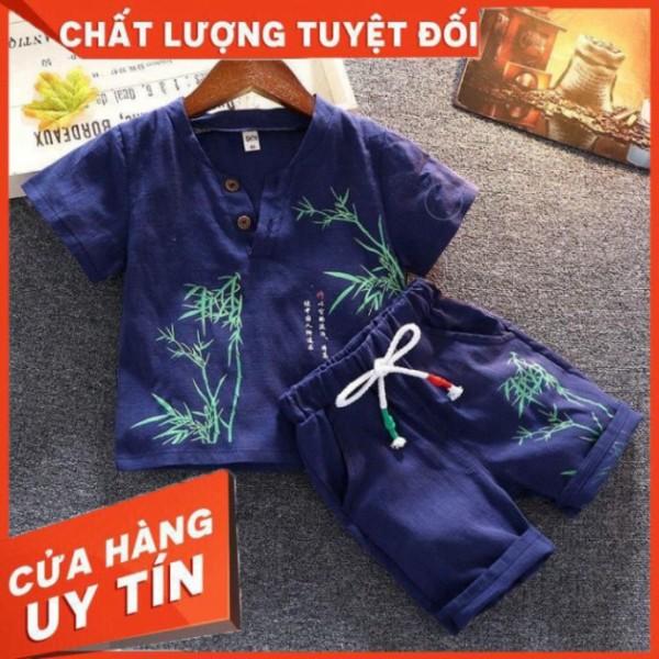Giá bán Bộ Cộc Tay In Hình Cây Tre Siêu Hot Cho Bé SUMO CITY cho bé từ 6-28kg