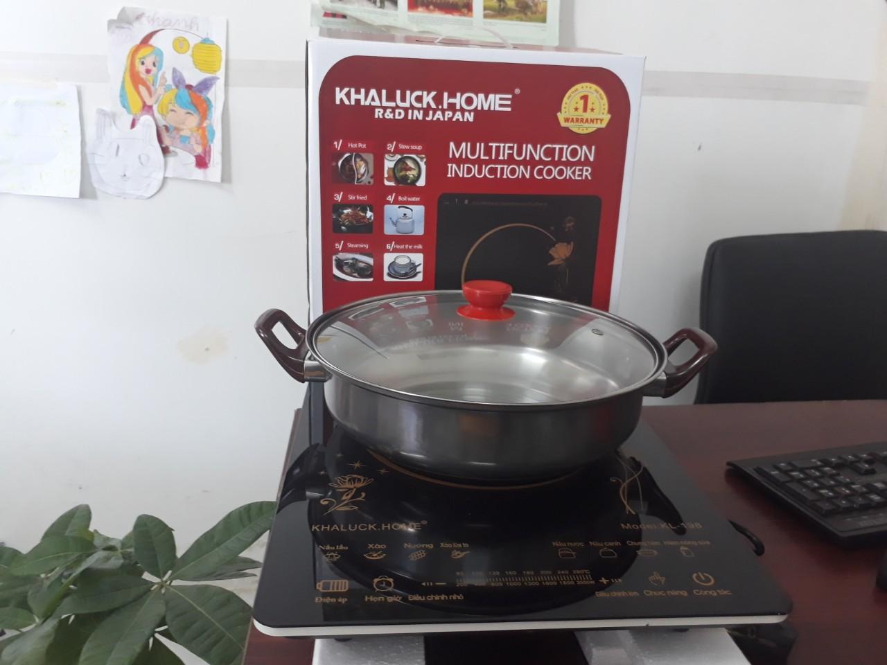 Giá Bếp từ Khaluck KL198 (TẶNG KÈM LẨU INOX 26CM)