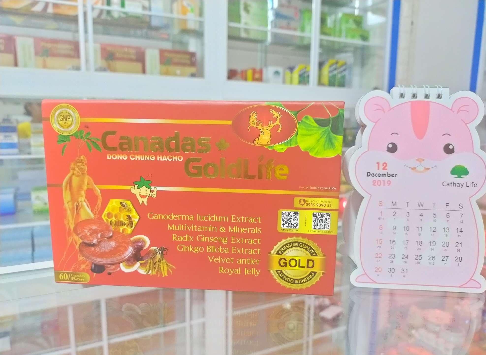 canadas goldlife đông trùng hạ thảo hộp 60 viên làm quà tặng ý nghĩa nhập khẩu