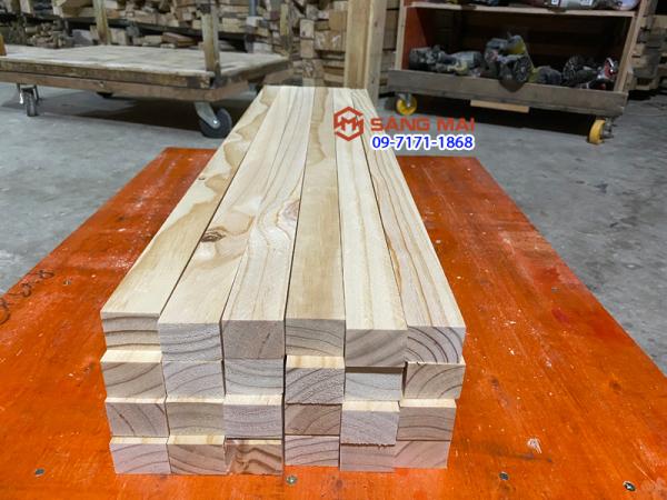 [MS65] - Thanh gỗ thông 3cm x 4cm x dài 100cm x bào láng mịn 4 mặt