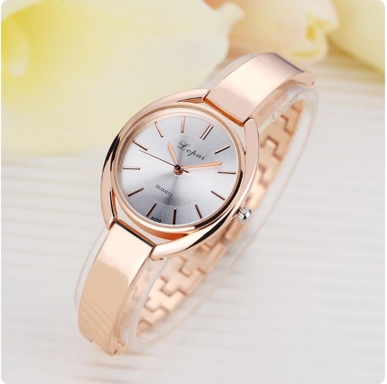 Đồng hồ thời trang nữ dây kim loại Lupai 8268, chất liệu thạch anh cao cấp, thiết kế tinh xảo