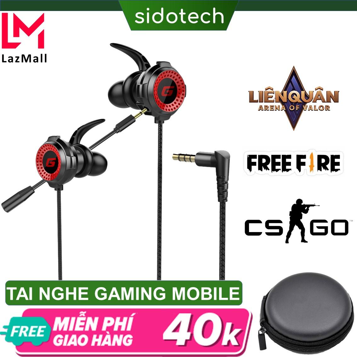 Tai nghe chơi game điện thoại SIDOTECH G11 Plus có mic 360 độ kèm bao da jack 3.5mm tích hợp chuyên dụng chơi game pug mobile tốc chiến lmht, liên quân trên điện thoại dành cho game thủ chuyên nghiệp thuộc dòng tai nghe gaming