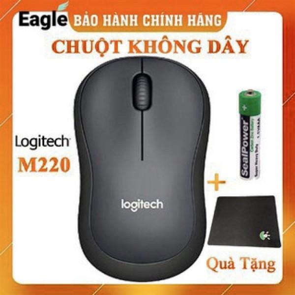 Bảng giá Chuột không dây Logitech Silent M220 không tiếng ồn -tặng lót chuột khâu viền cao cấp sản phẩm tốt có độ bền cao cam kết sản phẩm nhận được như hình Phong Vũ