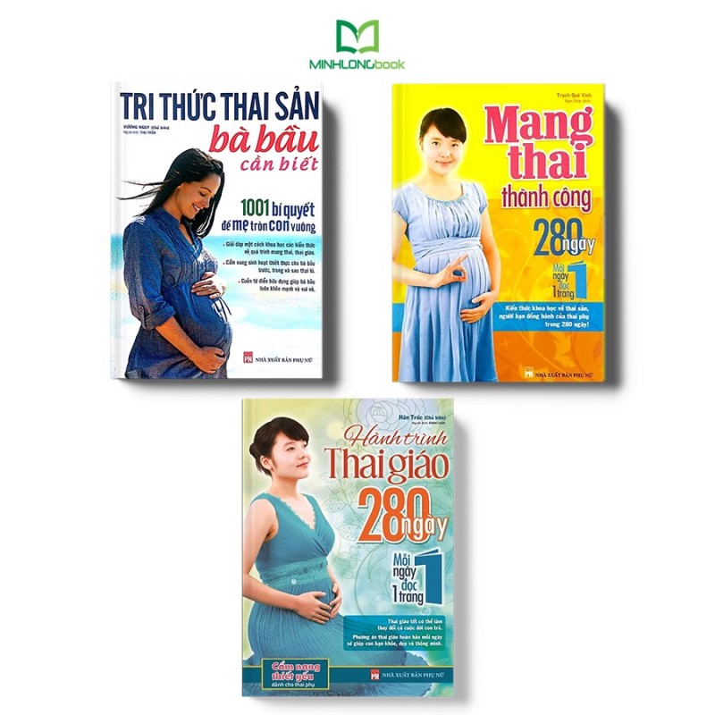 Sách:  Combo Tri Thức Thai Sản Bà Bầu Cần Biết